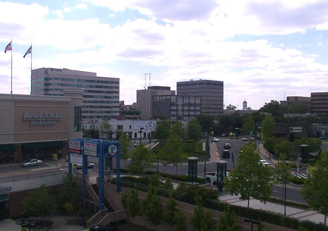 Towson's business district, where Kate's and Rob's offices are located. (public domain, Wikimedia Commons)