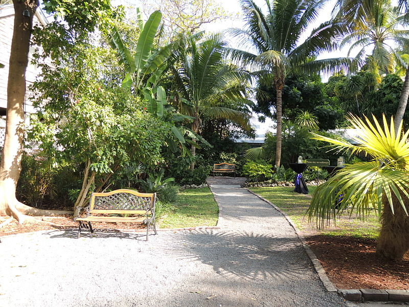 The grounds of Hemingway's house (photo by Abujoy, CC-BY 3.0, Wikimedia Commons)