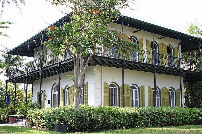 Hemingway's house (photo by Andreas Lamecker CC-BY 2.5, Wikimedia Commons)