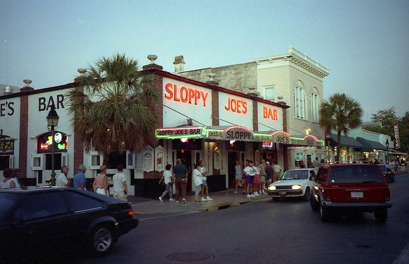 Sloppy Joe's, Hemingway's favorite drinking spot (photo public domain)