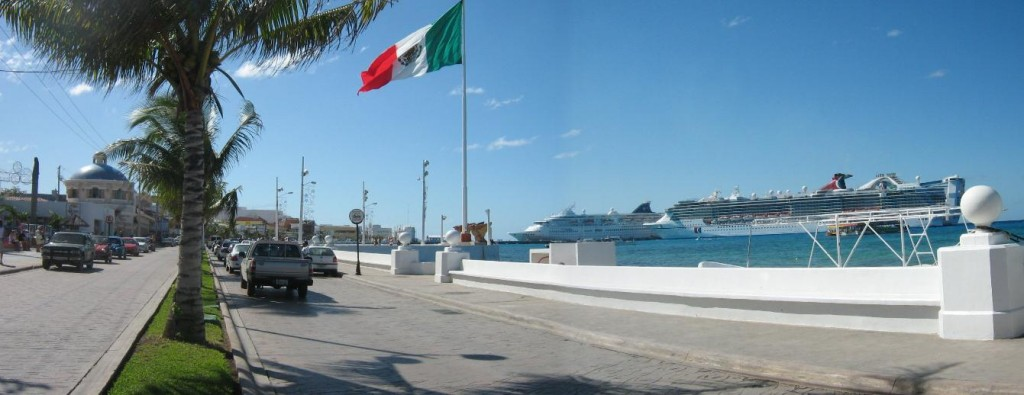 Coming back to the ship in Cozumel
