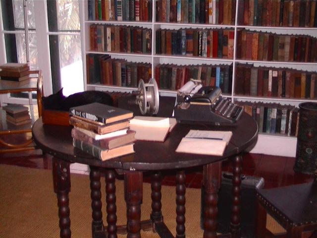 His writing desk (public domain)