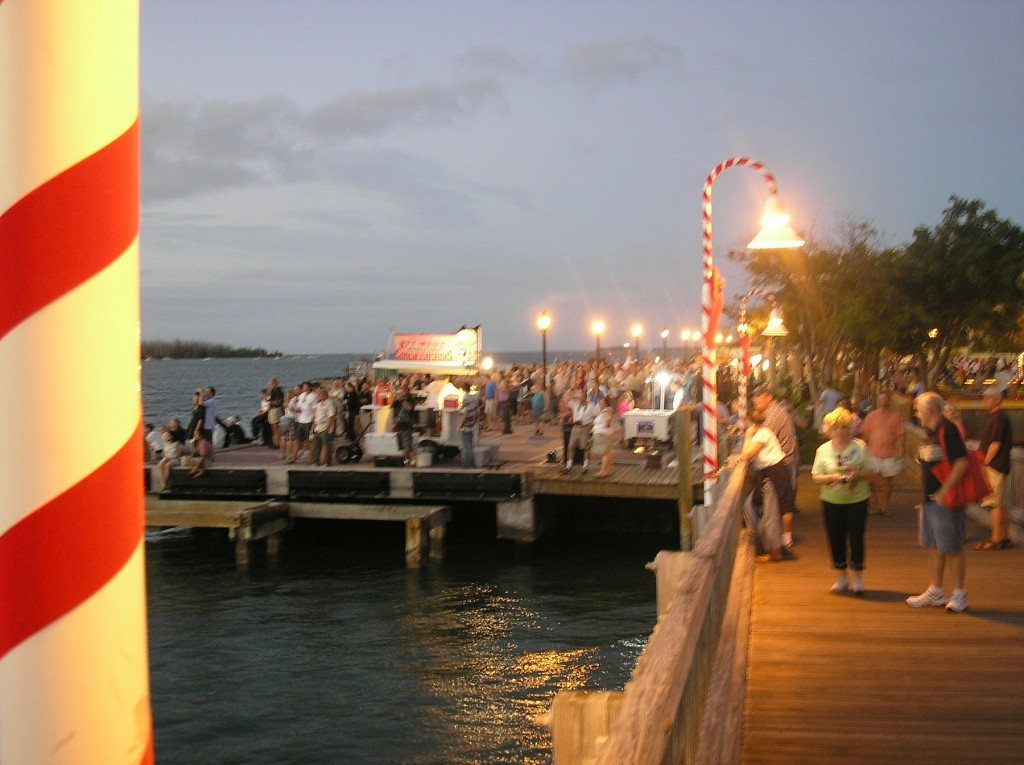 The locals and tourist gathering for the sunset celebration (photo by Deror avi CC-BY-SA, Wikimedia Coomons)