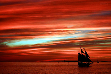 Sunset at Mallory Square, Key West (photo by Brian W. Schaller CC BY NC SA 3.0, Wikimedia Commons)