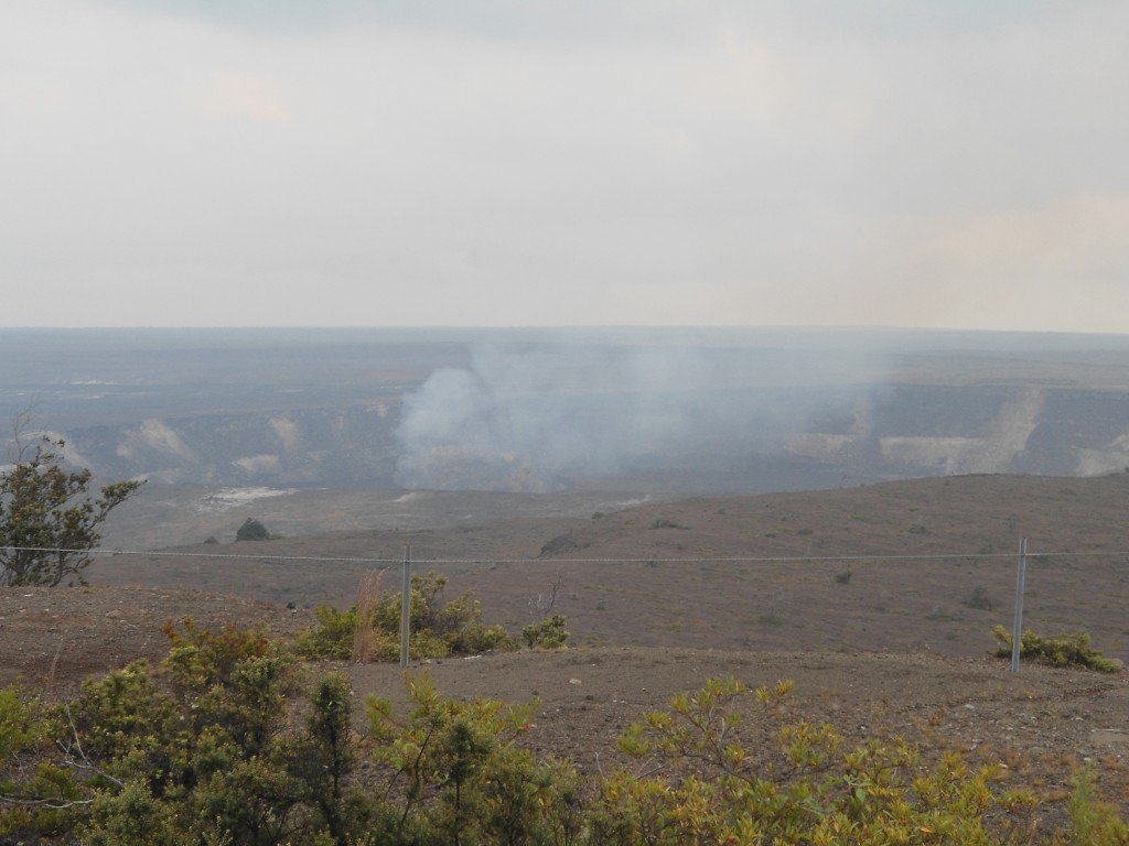 Halema'uma'u Crater of the Kilauea Caldera -- Volcano National Park, on the Big Island of Hawaii