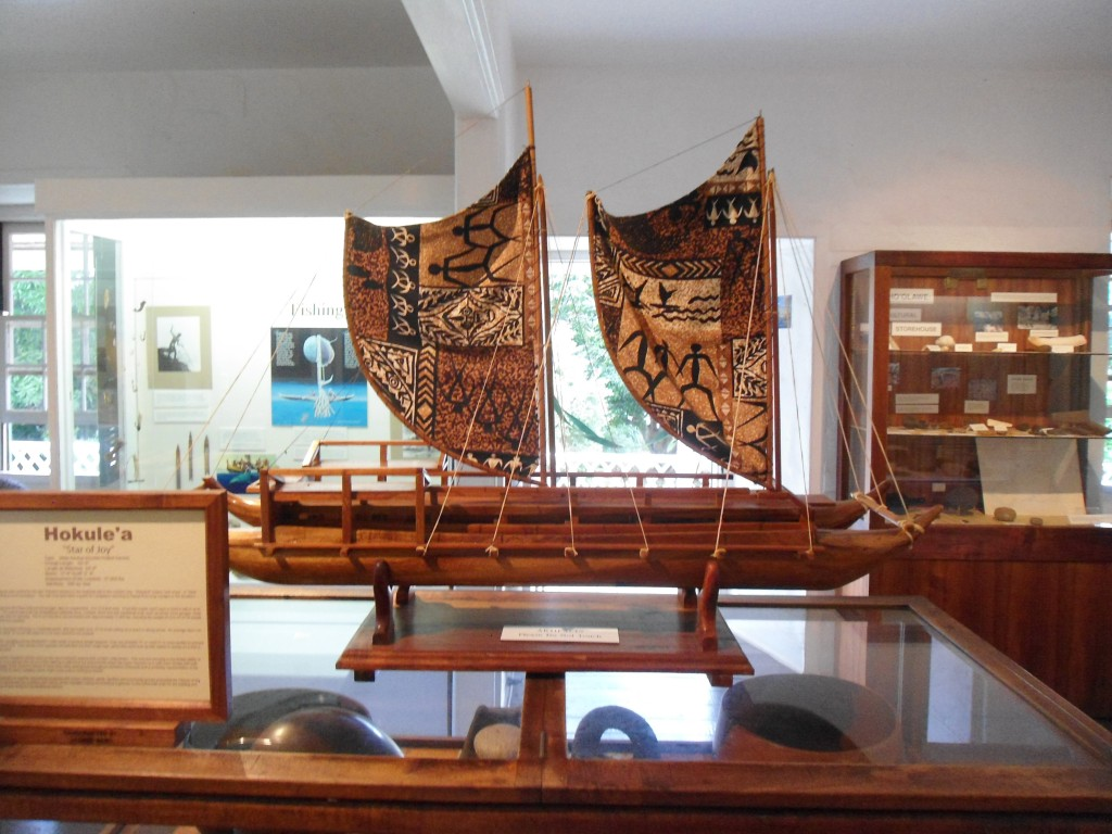 A replica of a vessel that may have been used by those first migrating to Hawaii from other islands