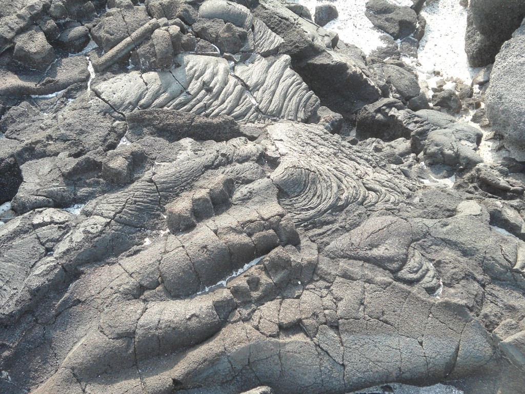 close-up of the lava