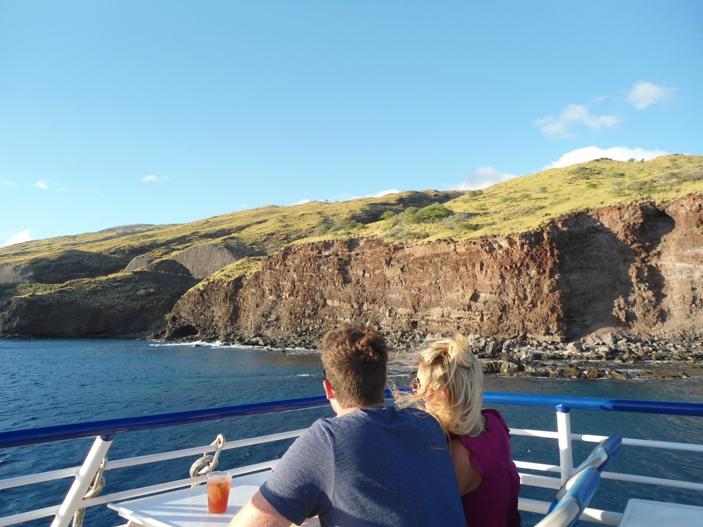 sunset cruise along Maui shoreline