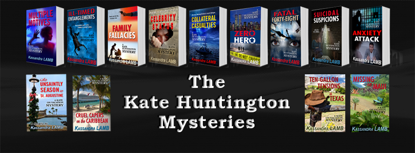 Kate Huntington Mystery Series by Kassandra Lamb